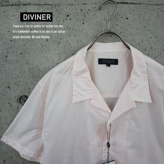 ジョーカー(JOKER)のDIVINER 新品 国産 ローン刺繍半袖開襟シャツ ピンクM(シャツ)