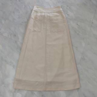 Mila Owen - ミラオーウェン パッチポケット付 ロングスカート 0