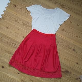イマージュ(IMAGE)のカットソー&スカート セット(ひざ丈スカート)