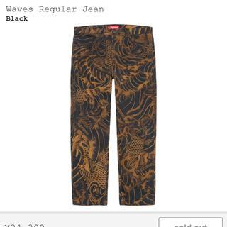 Supreme - Supreme Waves Regular Jean 黒