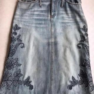 Sports Max デニム刺繍スカート
