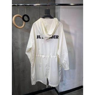 Jil Sander ホワイト ステンカラーコート サイズ: S(ステンカラーコート)