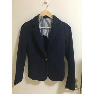 ジーユー(GU)のGU 紺色 レディース ジャケット(テーラードジャケット)