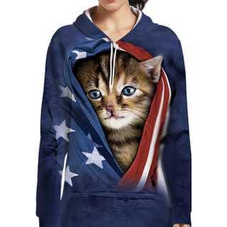 男女OK『USA子猫ビッグパーカー』(パーカー)