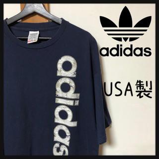 アディダス(adidas)の【旧タグ】アディダス☆ビッグロゴ入り Tee 希少USA製 ビッグサイズ(Tシャツ/カットソー(半袖/袖なし))