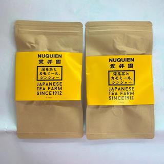 深蒸し茶とカモミール・ジンジャーのハーブティー [2.5g✖️8P]を2袋(茶)