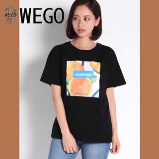 WEGO - フルーツBOXロゴプリントTシャツ 半袖 韓国 WEGO