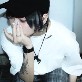 MOCOA  BIG silhouette T-shirt ホワイト(Tシャツ/カットソー(半袖/袖なし))