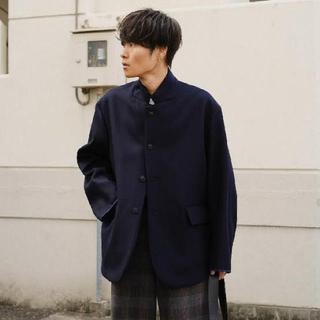 SUNSEA - URU tokyo 19AW wool over jacket 2 navy