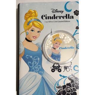 ディズニー(Disney)のシンデレラ 1オンス銀貨 2015年 ニウエ発行 シリアル番号 ディズニーコイン(貨幣)