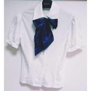 セーラー服 半袖 夏 ギンガムチェック リボン付き コスプレ(衣装)