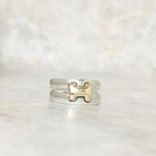 エルメス(Hermes)の正規品 エルメス 指輪 オランプ コンビ シルバー ゴールド H ロゴ リング2(リング(指輪))