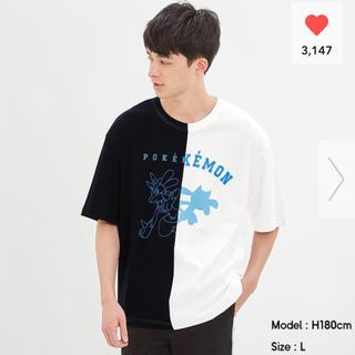 ジーユー(GU)のGU ルカリオ サイズXXL 入手困難 ポケモンコラボ(Tシャツ/カットソー(半袖/袖なし))