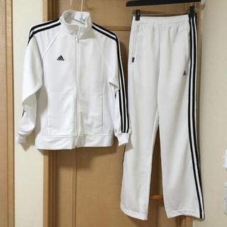 アディダス(adidas)のadidas アディダス ジャージ上下 ホワイト、ブラックライン(セット/コーデ)