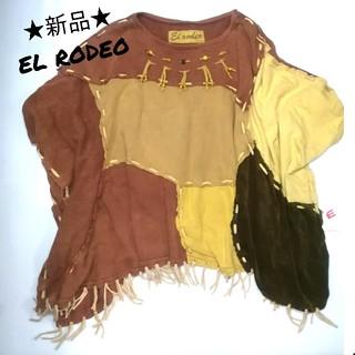 エルロデオ(EL RODEO)の【新品】エルロデオ EL RODEO ビッグTシャツ ポンチョ エスニック 民族(Tシャツ(長袖/七分))