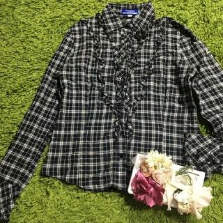 BURBERRY BLUE LABEL - burberryバーバリーブルーレーベル 定番チェックシャツ