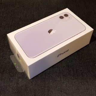 iPhone - 【SIMフリー/新品未使用】iPhone11 64GB/パープル/判定○