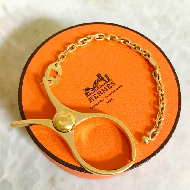 Hermes(エルメス)の正規品 エルメス グローブホルダー フィルー ゴールド H ロゴ チェーン 金  レディースのファッション小物(その他)の商品写真