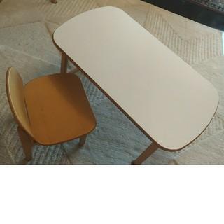 アクタス(ACTUS)の【都内引取or着払い限定】アクタス キッズテーブチェアセット 机椅子 ACTUS(学習机)