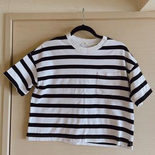 ジーユー(GU)のGU ボーダー Tシャツ(Tシャツ(半袖/袖なし))