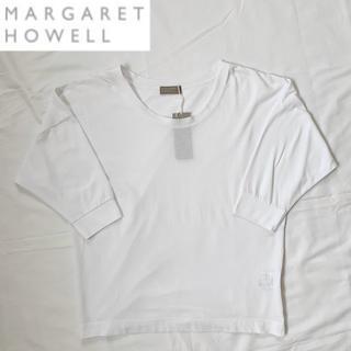 マーガレットハウエル(MARGARET HOWELL)の未使用 MARGARET HOWELL ドロップショルダー ホワイトカットソー(カットソー(長袖/七分))