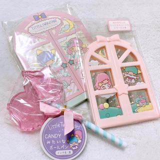 サンリオ - キキララ 文房具 メモ帳 ミラー ペン セット ♥