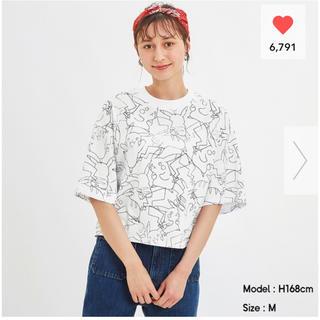 ジーユー(GU)のGU ポケモンコラボ 総柄Tシャツ サイズS  入手困難(Tシャツ(半袖/袖なし))