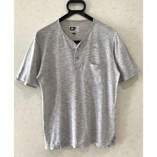エンジニアードガーメンツ(Engineered Garments)の*エンジニアドガーメンツ ヘンリーネック 半袖 カットソー XS(Tシャツ/カットソー(半袖/袖なし))