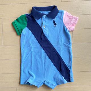 ラルフローレン(Ralph Lauren)の美品 ラルフローレン  ロンパース ポロシャツ 6M 70cm(ロンパース)