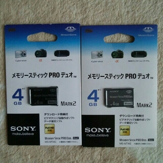 ソニー(SONY)のSONY メモリースティック PRO デュオ 4G MS-MT4G(PC周辺機器)