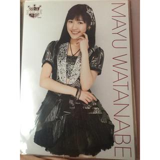 エーケービーフォーティーエイト(AKB48)のAKB48 渡辺麻友 AKBカフェ限定 生写真 ポスター A4(アイドルグッズ)