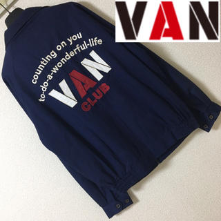 ◆VAN CLUB ヴァン クラブ◆アーチロゴ スイングトップ ワッペンブルゾン