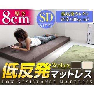新品★マットレス セミダブル低反発ウレタン 8cm★色:選択不可
