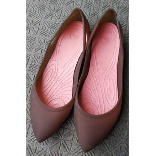 クロックス(crocs)の24.5cm【1回履いただけ】crocsクロックスのレインパンプス!!(レインブーツ/長靴)