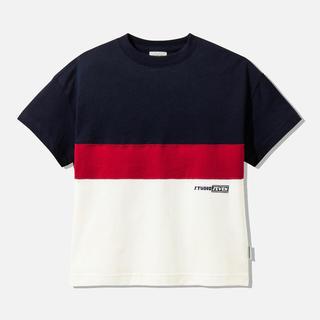 ジーユー(GU)のバイカラー Tシャツ トップス GU(Tシャツ/カットソー)