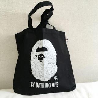 アベイシングエイプ(A BATHING APE)のA BATHING APE ◆トートバッグレディースメンズ黒 アベイシングエイプ(トートバッグ)