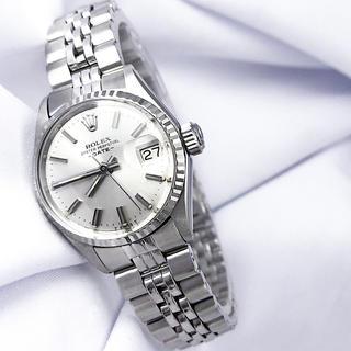 ROLEX - 【仕上済】ロレックス オイスター デイト シルバー レディース 腕時計
