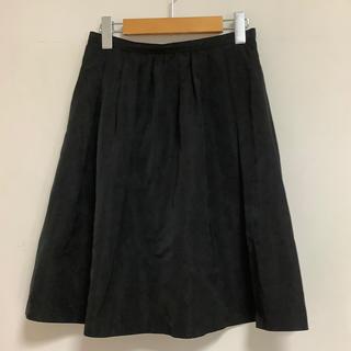 アンタイトル(UNTITLED)のアンタイトル  サーキュラースカート  黒 サイズ2(ひざ丈スカート)