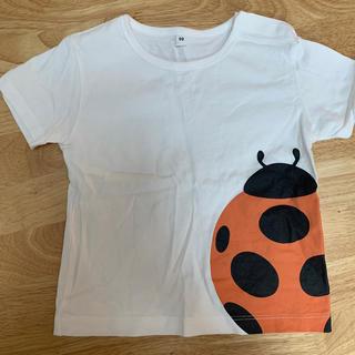 MUJI (無印良品) - 無印良品 インド綿天竺編みプリントTシャツ ベビー キッズ てんとうむし