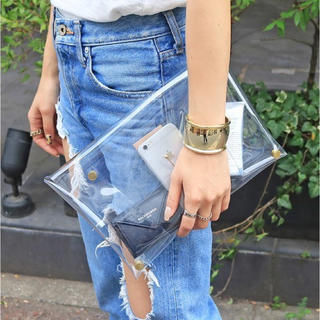 TODAYFUL - todayful クリアクラッチバッグ clear clutch bag pvc