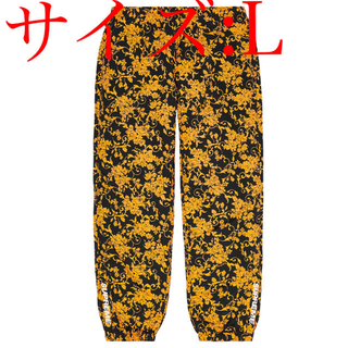 Supreme - Supreme Warm Up Pant Black Floral L