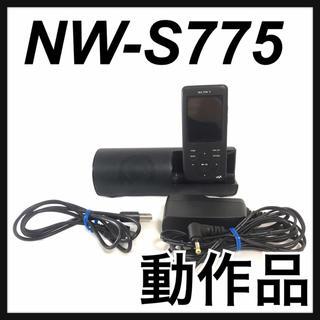 ソニー(SONY)のSONY ウォークマン NW-S775 ブラック スピーカー付属(ポータブルプレーヤー)