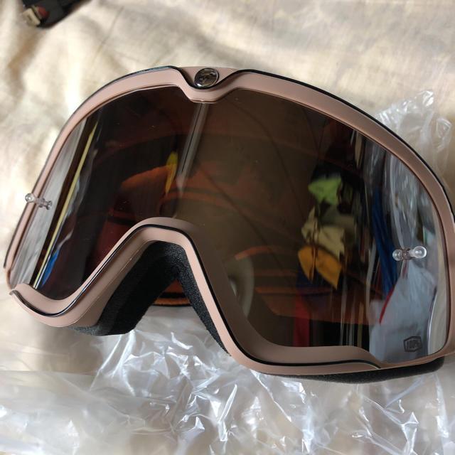 ビンテージタイプ ゴーグル 100% オフロード モトクロス 自動車/バイクのバイク(装備/装具)の商品写真