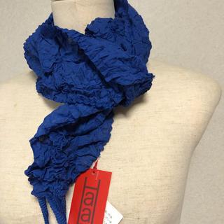 イッセイミヤケ(ISSEY MIYAKE)の新品未使用イッセイミヤケ H aat   プリーツスカーフ(バンダナ/スカーフ)