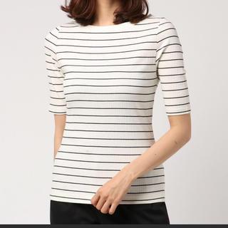 アズールバイマウジー(AZUL by moussy)のボーダー Tシャツ 2Way(Tシャツ(半袖/袖なし))