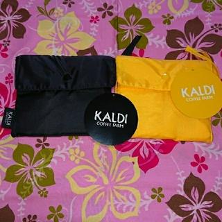 KALDI - KALDI オリジナルエコバッグセット③(ブラック、イエロー)