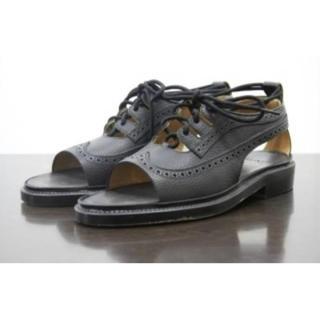 サンシー(SUNSEA)の12SS sunseaサンシーCut off wing tip shoes(サンダル)