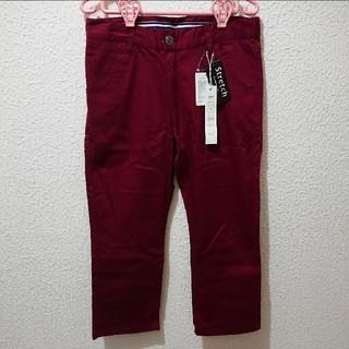 しまむら - 新品 メンズ 七分丈 ボルドーパンツ♥ユニクロ GU