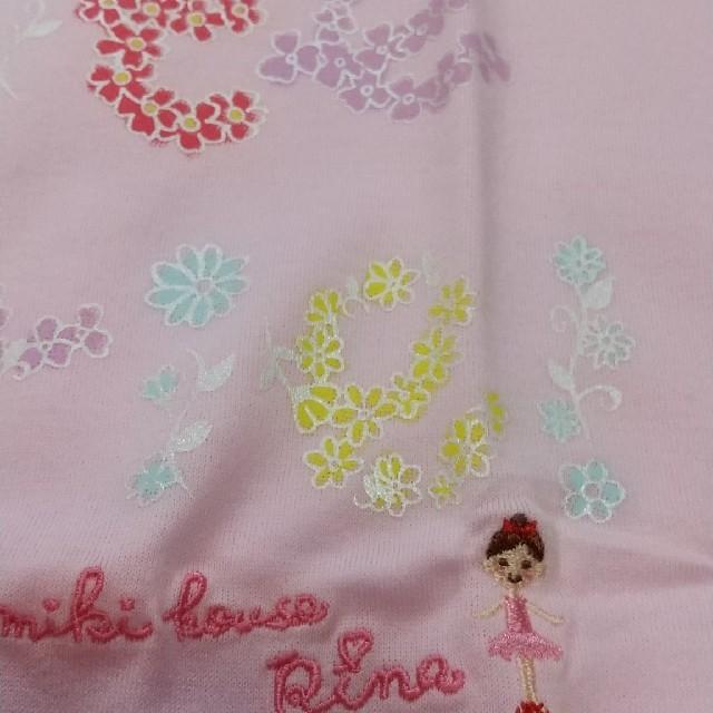 mikihouse(ミキハウス)のミキハウス110サイズリーナちゃんお花カットソー キッズ/ベビー/マタニティのキッズ服女の子用(90cm~)(Tシャツ/カットソー)の商品写真