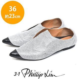 スリーワンフィリップリム(3.1 Phillip Lim)のフィリップリム スリッポン 革靴 36(約23cm)(ローファー/革靴)